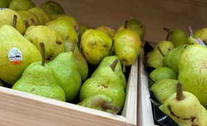 Imperfect Picks Pudgy Imperfect Pears, one of Harris Farm Markets' newest products.